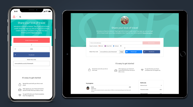Airbnb Referral App