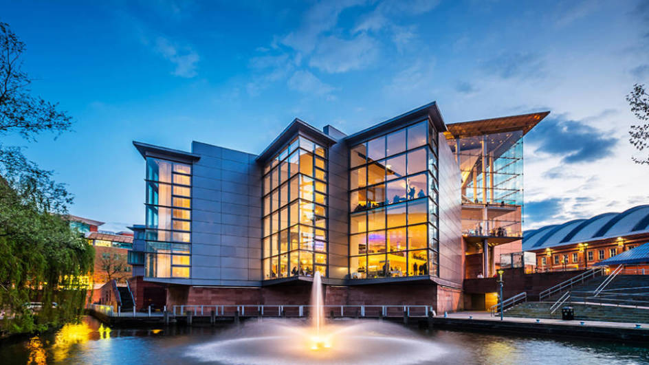 The Bridgewater Hall from canal basin