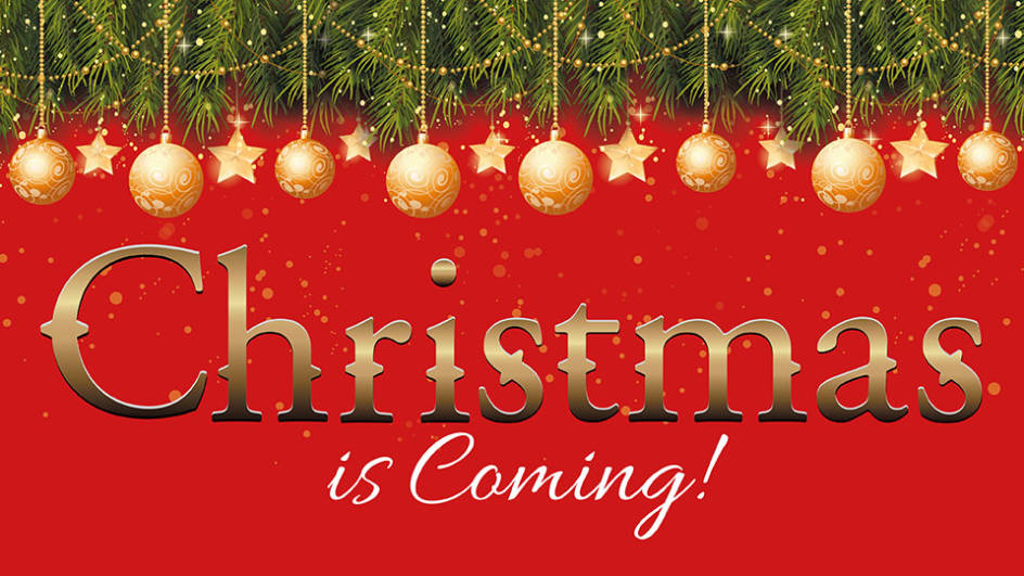 Image result for christmas is coming sign
