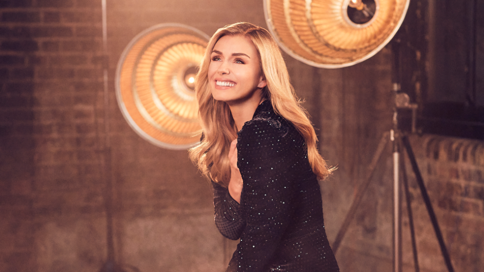 Katherine Jenkins smiling