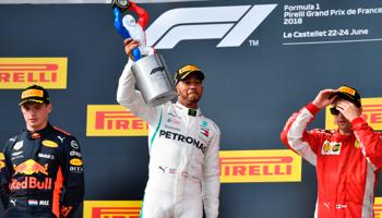 F1 GP van Frankrijk: een vierde overwinning op rij voor Hamilton?