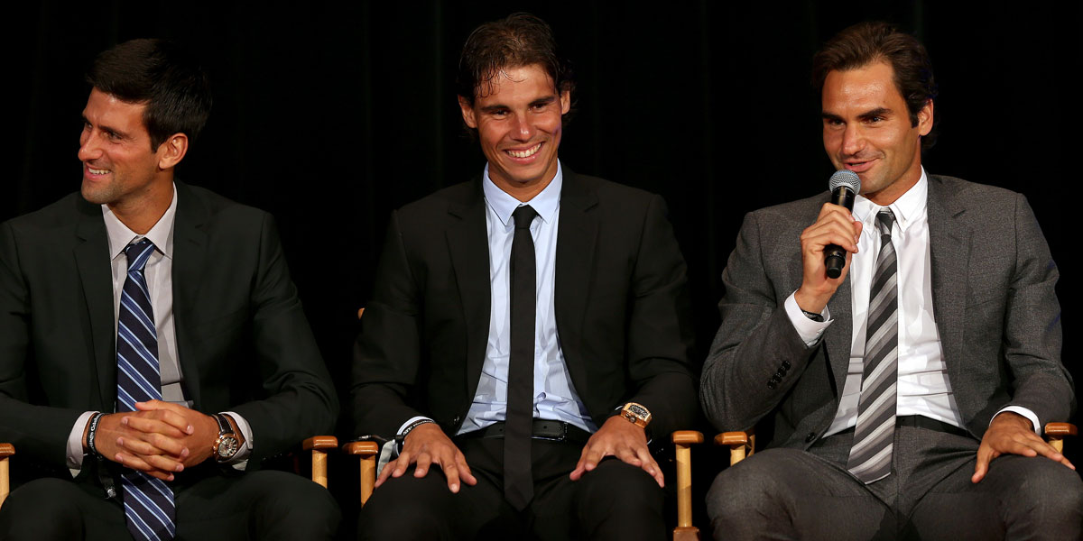 Djokovic, Nadal, Federer