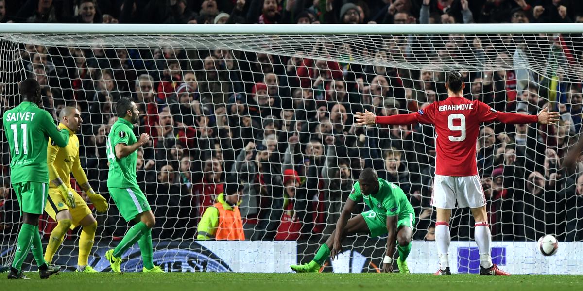 Manchester United ist in der Europa League voll auf Kurs - auch dank 5 Ibrahimovic-Buden.