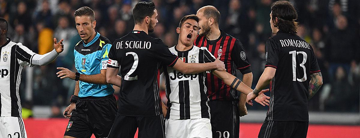 AC Mailand - Juventus Turin, Spielertraube