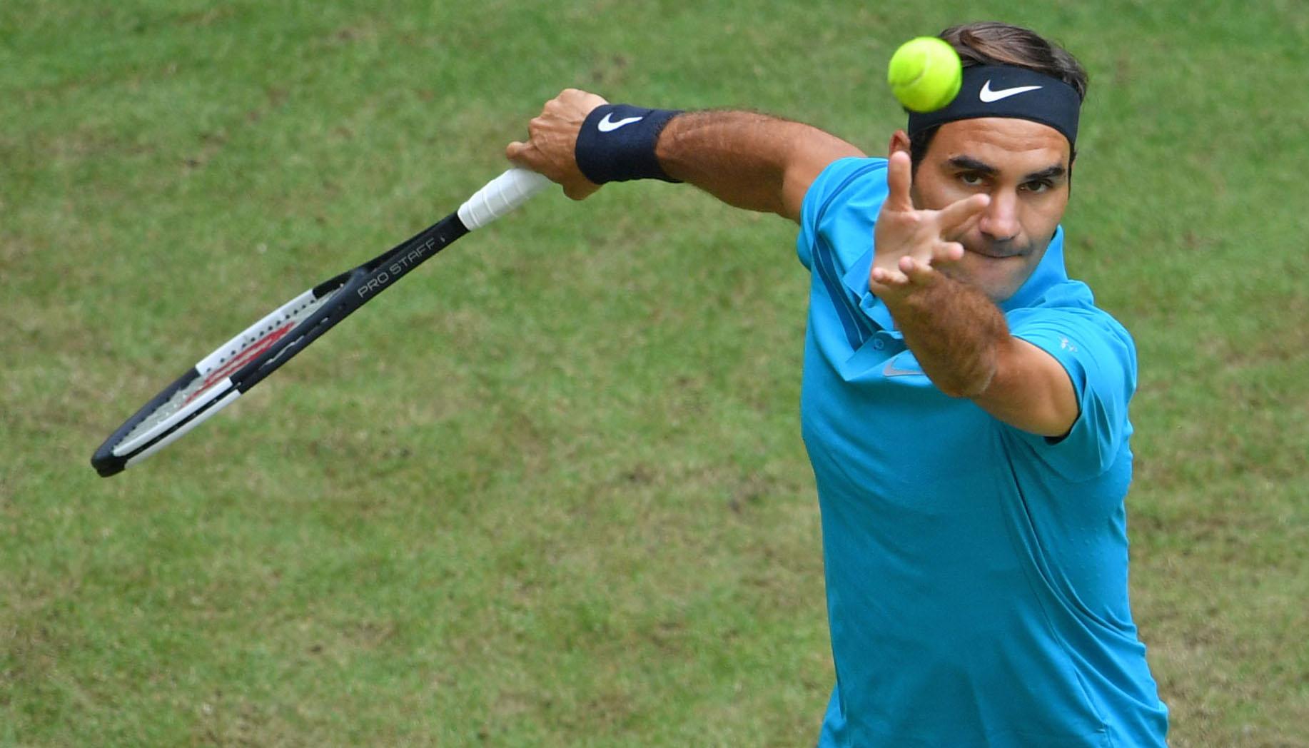 Der Weg von Roger Federer in Halle könnte steinig werden