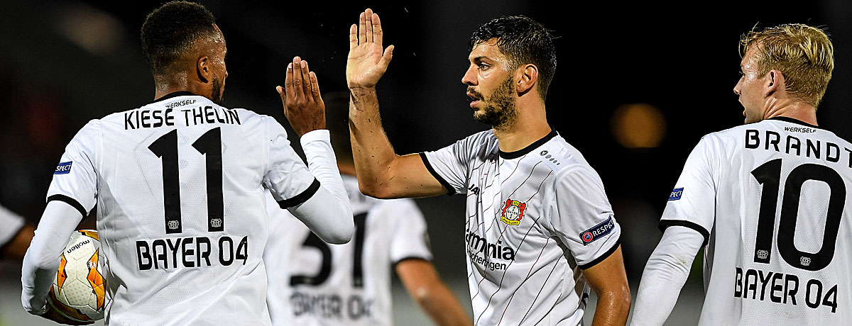 Leverkusen feiert Sieg gegen Ludogorets