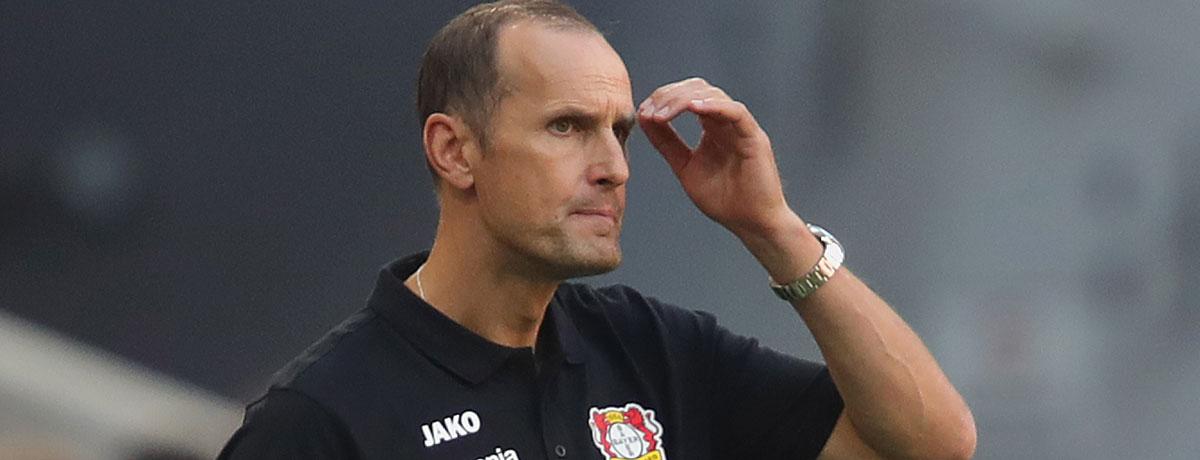 Heiko Herrlich ist Trainer von Bayer Leverkusen.