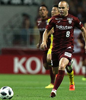 Andres Iniesta spielt seit Sommer 2018 für Vissel Kobe.