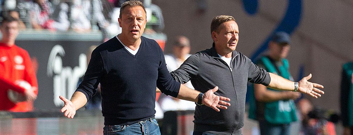 André Breitenreiter und Horst Held bei Hannover 96