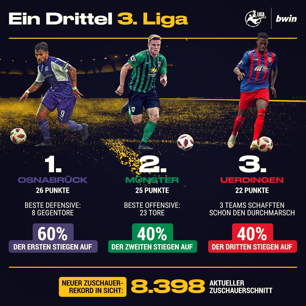 3 Liga Das Sagt Die Tabelle Nach Einem Drittel Der Saison