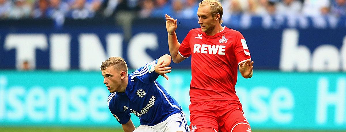 Max Meyer im Spiel Schalke gegen Köln.