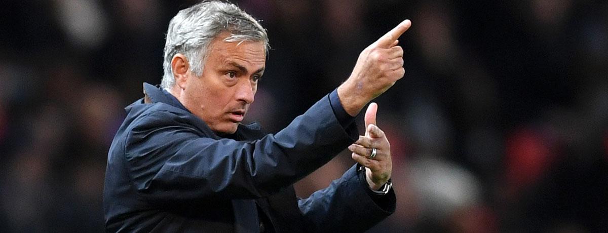 Jose Mourinho steht bei Manchester United unter Druck