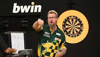 bwin Grand Slam of Darts: Simon Whitlock kämpft sich zurück ins Turnier