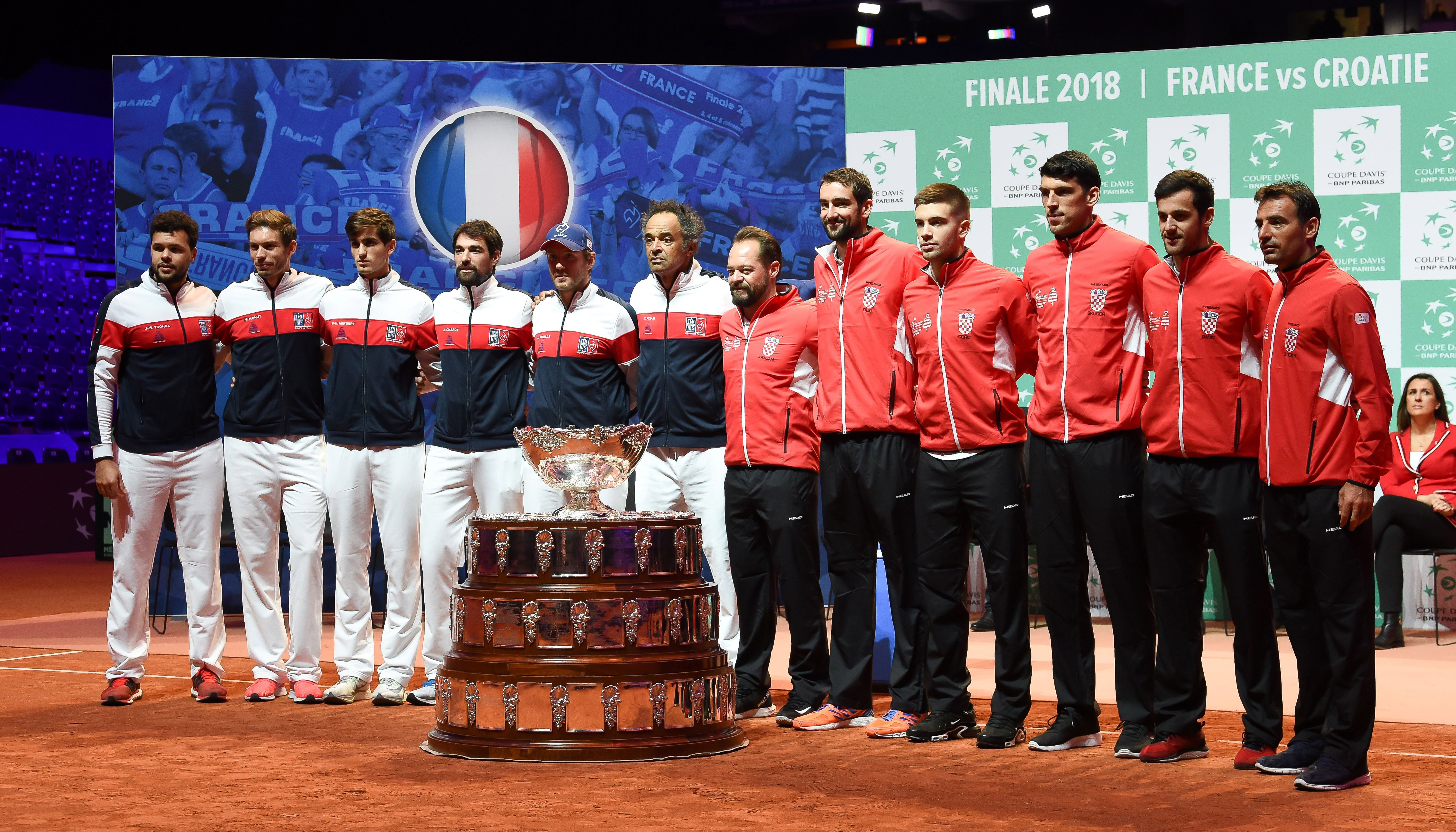 Davis Cup-Finale: Kroatien in Frankreich im Vorteil