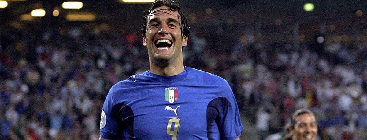 Luca Toni in der italienischen Nationalmannschaft.