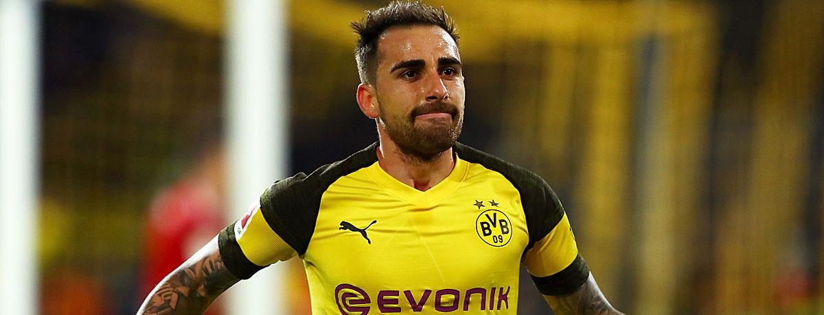 Paco Alcacer mit Tor gegen Bayern München