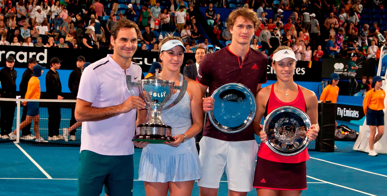 Federer, Bencic, Zverev, Kerber