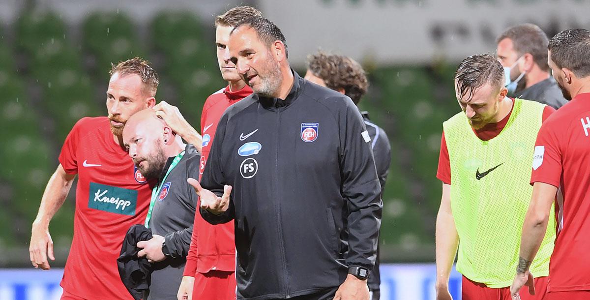 Ist mit dem 0:0 im Hinspiel zufrieden - Trainer Frank Schmidt