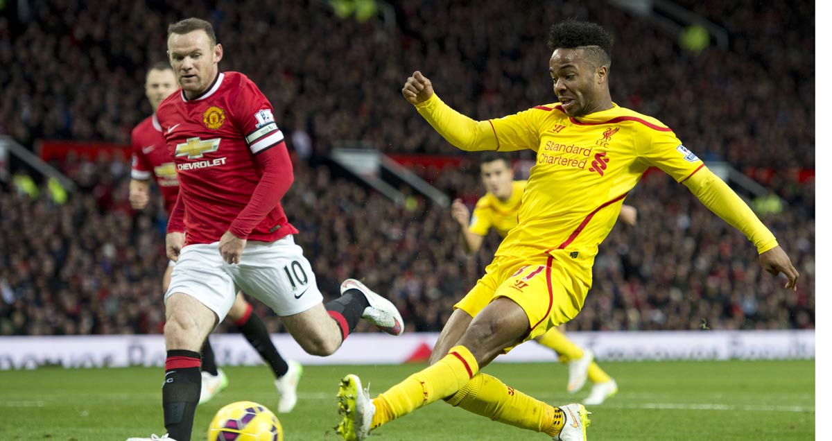 Raheem Sterling misses another chance in Liverpool's 3-0 loss at Old Trafford