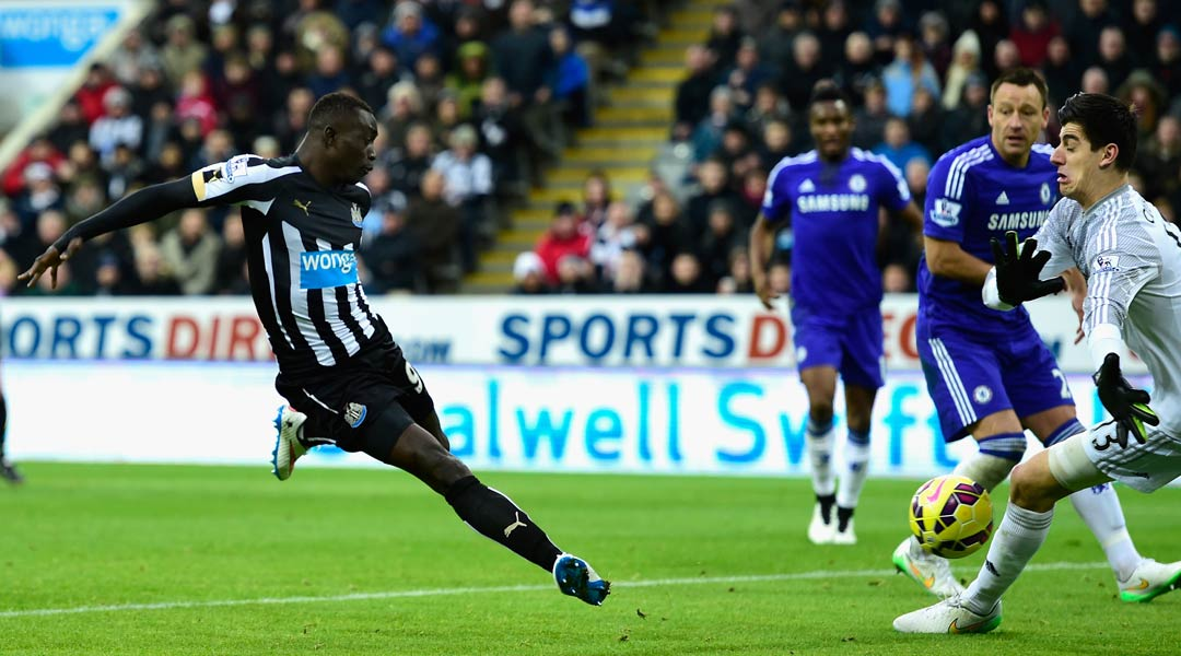 Newcastle v Chelsea: Papiss Cisse finds the net