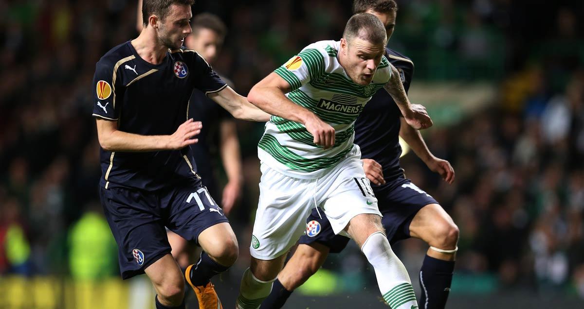 Celtic's Anthony Stokes in full flight