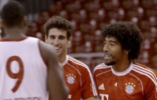FC Bayern Munchen stars show off their skills... on the basketball court!