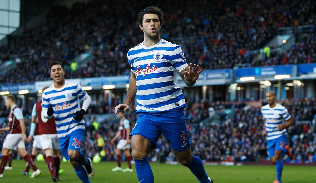 Charlie Austin scores for QPR against Burnley