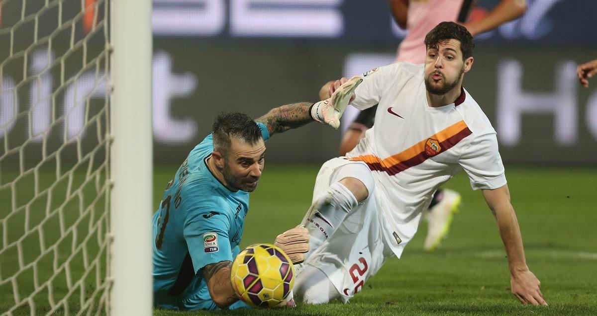 Mattia Destro nets for Roma v Palermo