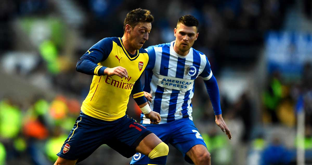Mesut-Ozil-Arsenal-Brighton