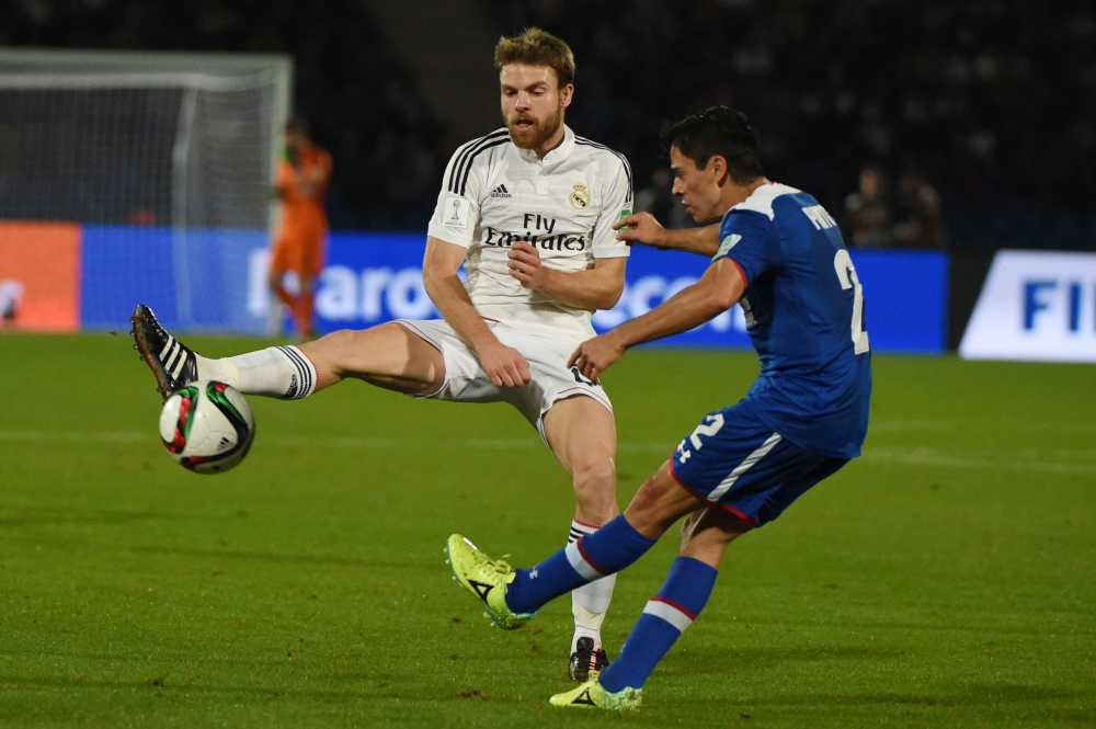 Stone-cold Xabi Alonso lookalike Asier Illarramendi in action for Real Madrid
