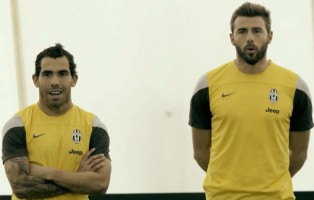 Tevez shows off skills in Juventus obstacle course challenge