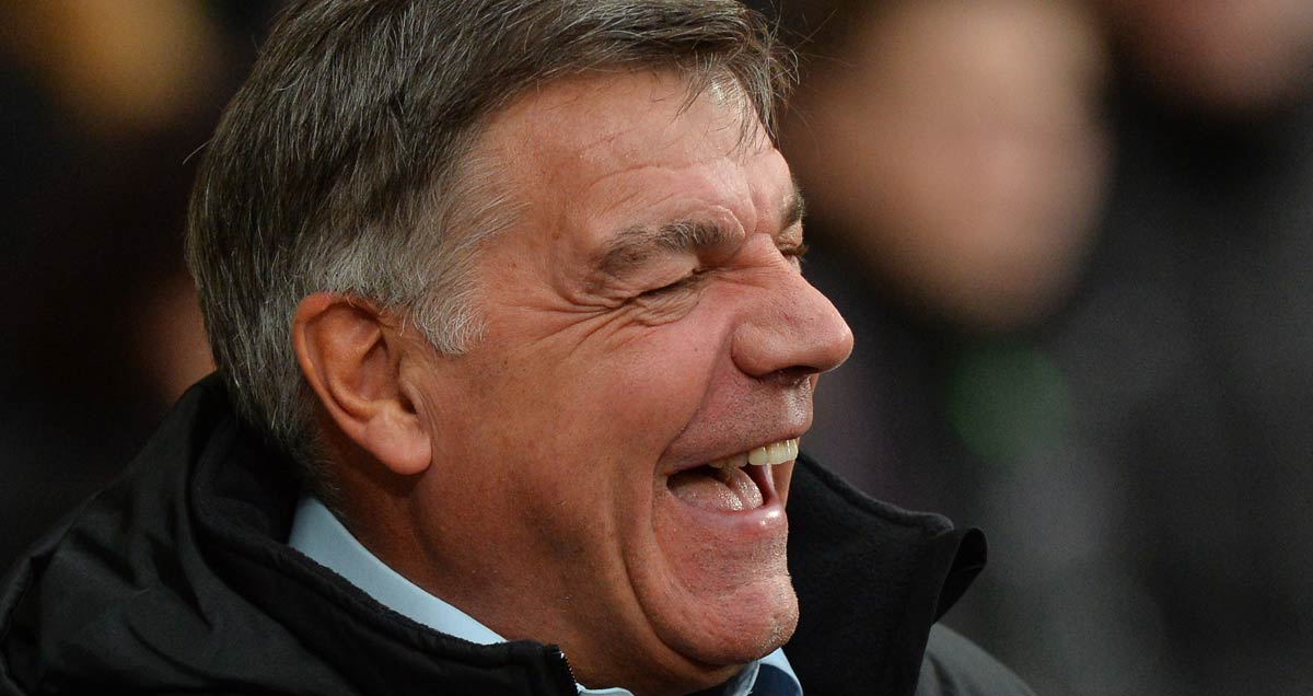 West Ham manager Sam Allardyce sees the funny side