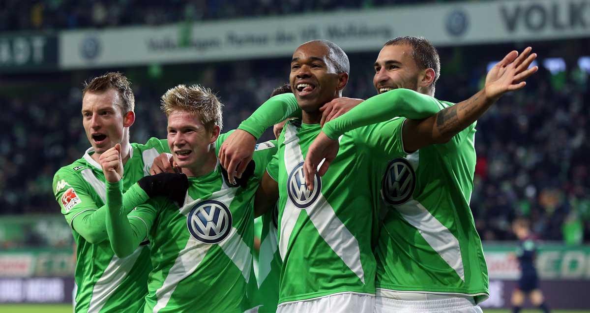 Wolfsburg's-Kevin-De-Bruyne-celebrating
