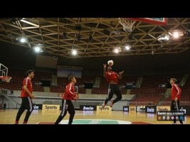 EXCLUSIVE: Watch Bayern stars flaunt slick basketball moves
