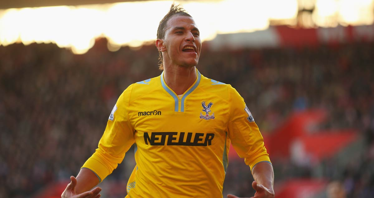 Crystal Palace striker Marouane Chamakh savours his second strike against Southampton