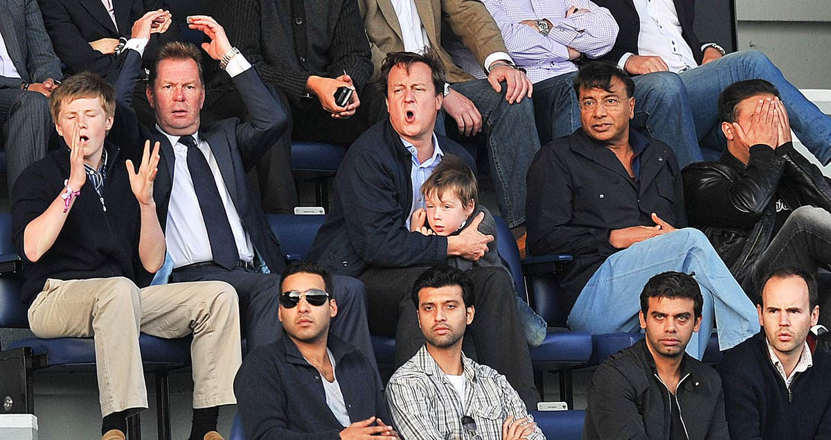 David Cameron mixes business with 'pleasure' as he takes in QPR v ASton Villa with Lakshmi Mittal