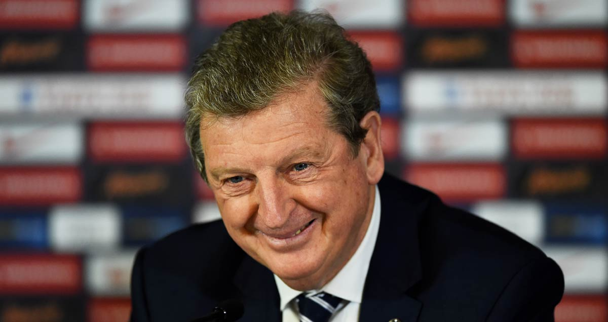 England manager Roy Hodgson smiles
