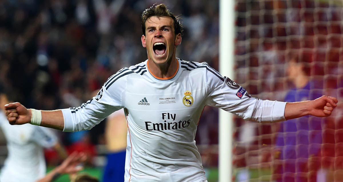 Gareth Bale hails his goal against Atletico Madrid in the 2014 Champions League final