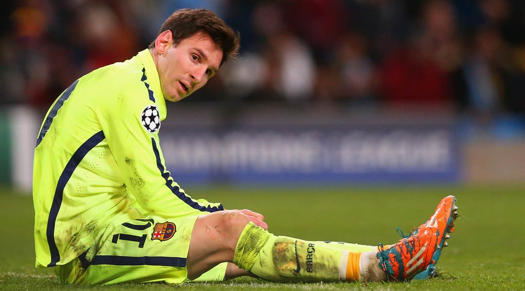 Lionel Messi contemplates another visit to the penalty spot