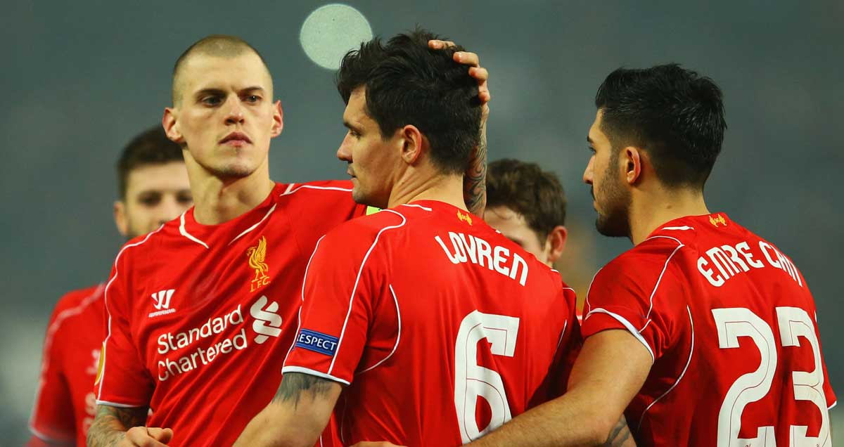 Liverpool-players-console-Dejan-Lovren