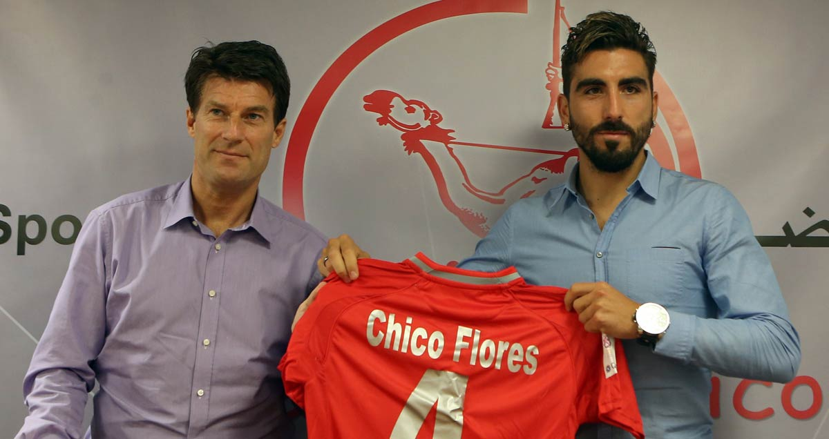 Michael Laudrup signs Chico Flores for the third time