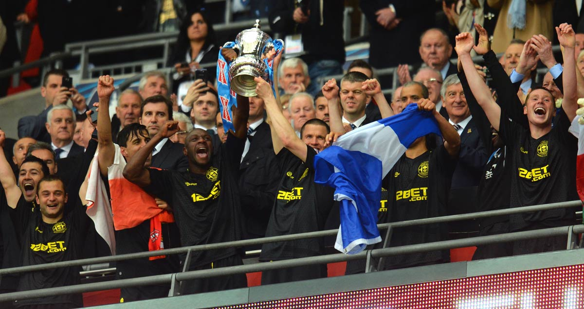 Wigan were the first side ever to win the FA Cup and be relegated in the same season in 2013