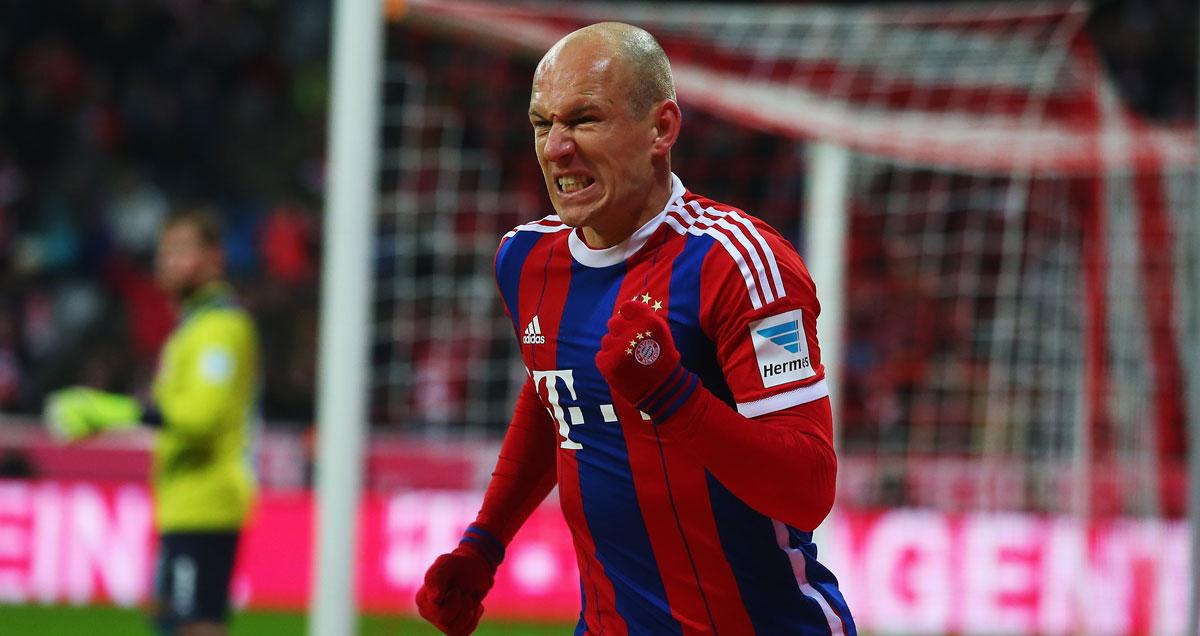 Arjen Robben is the top goalscorer in the Bundesliga this season