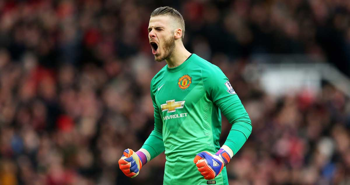 David De Gea pounds the air in delight