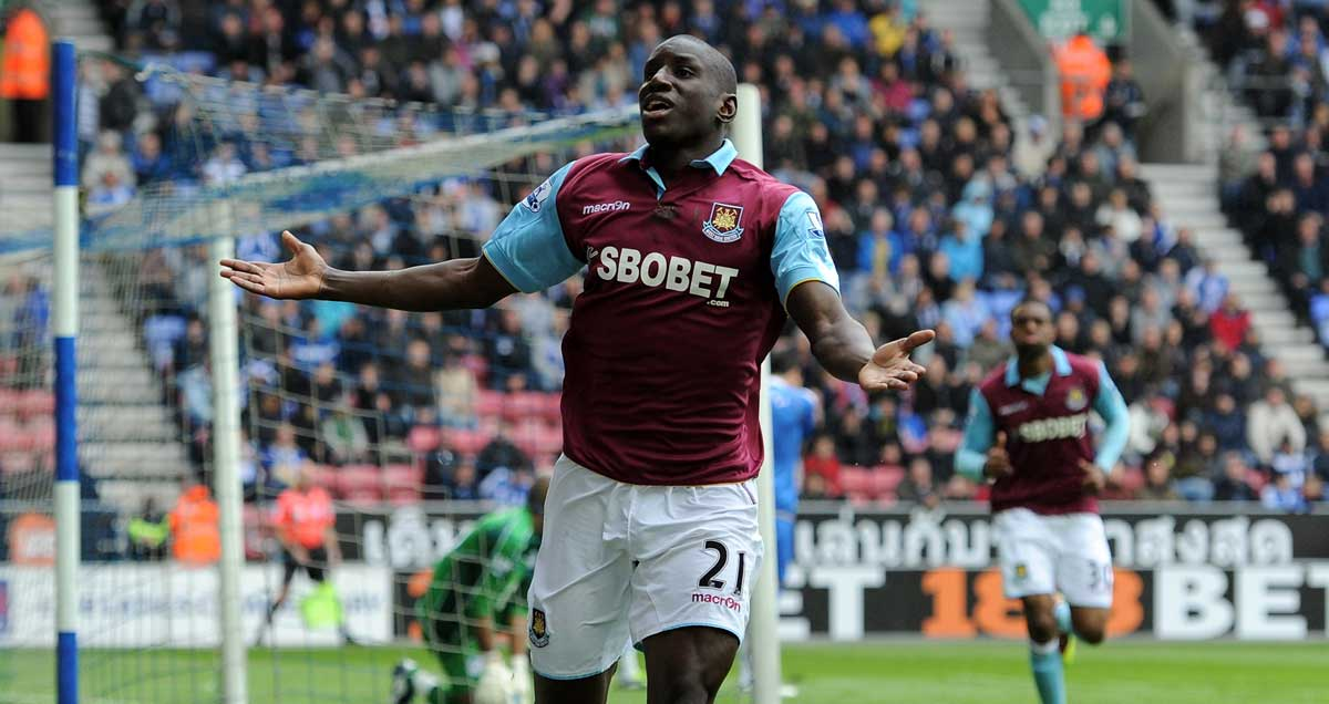 Demba Ba at the peak of his West Ham powers