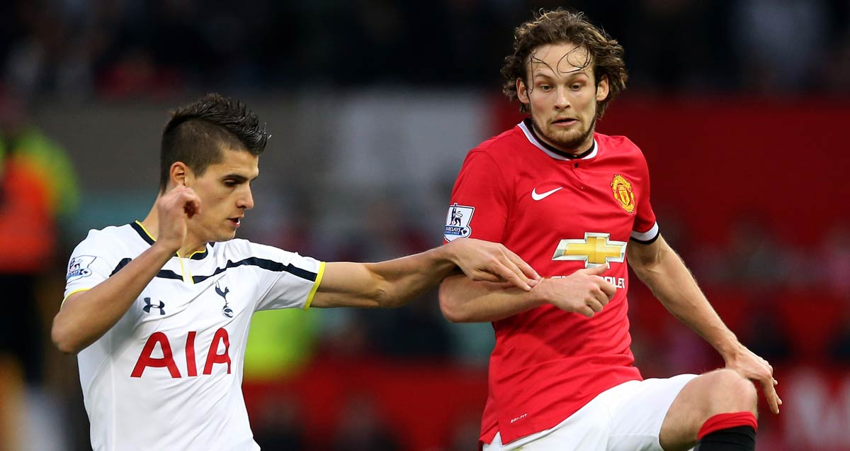 Daley Blind battles Erik Lamela