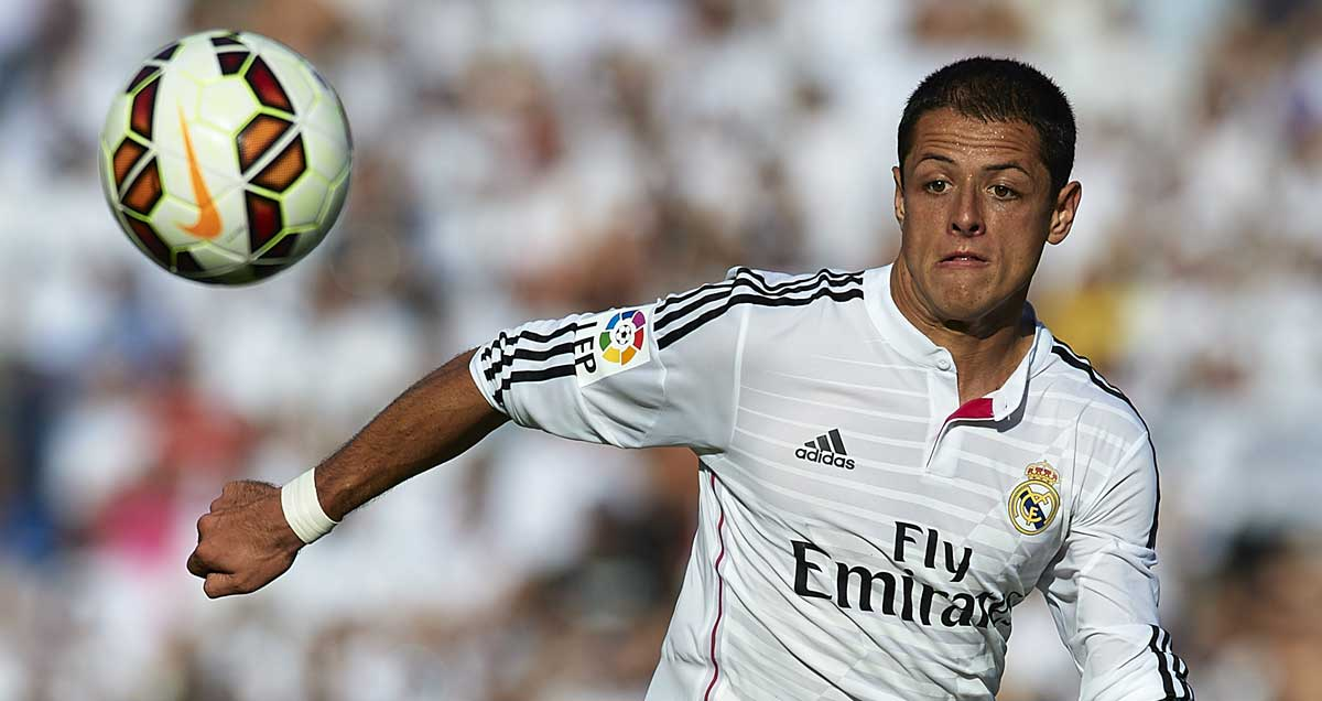 Javier Hernandez was Real Madrid's hero against Atletico Madrid in the Champions League