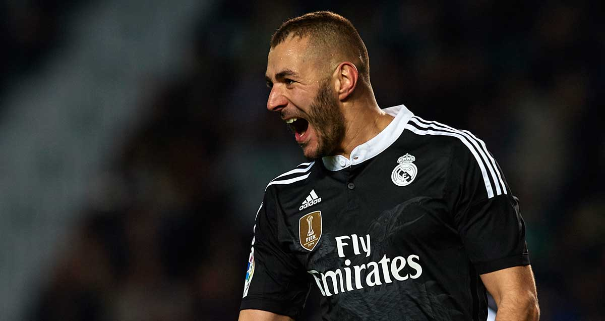 A jubilant Karim Benzema nets once more