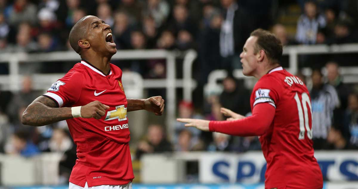 Ashley Young has been one of Manchester United's top performers in 2014/15