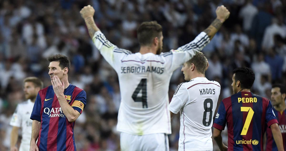 Real-Madrid-centre-half-Sergio-Ramos-celebrates-against-Barcelona